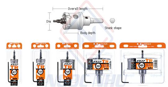 Mũi khoét lỗ hợp kim MCTR cắt sâu 25mm hiệu Unika xuất xứ nhật bản